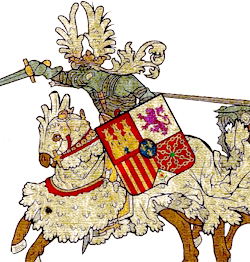 Detail of an example of Letter of Arms given by the Sociedad Heraldica.