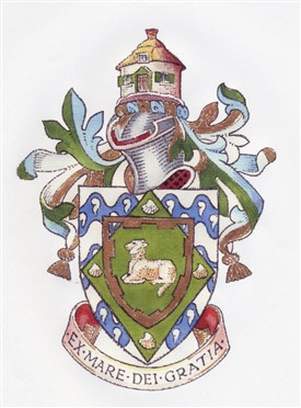 The coat of arms of Canvey Island
