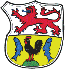 The coat of arms of the town of Much