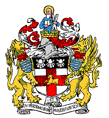 The coat of arms of the London district of Holborn