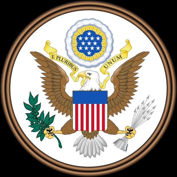 The United States eagle