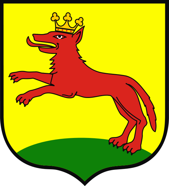 The coat of arms of Lobez, Poland